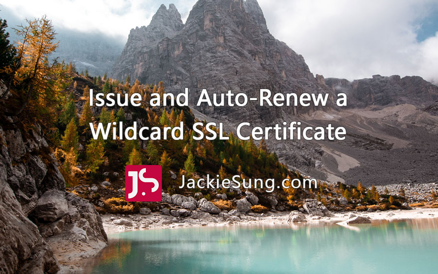 How To Issue And Auto-renew A Let's Encrypt Wildcard Ssl Certificate With Acme.sh